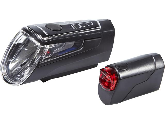 Trelock LS 560 I-GO CONTROL / LS 720 REEGO Kit d'éclairages, black